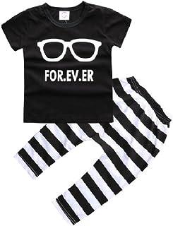 Hooyi Summer Baby Boy Clothes Set T-Shirt Pant Suit