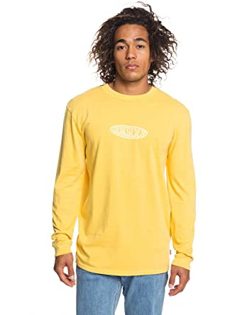 90343f1b18836b Amazon.com: Quiksilver Mens Gliding Light Ls Long Sleeve Tee Orange XL:  Clothing