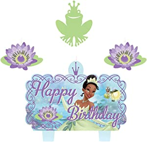 Princess and The Frog Molded Cake Candle Set (4pc)