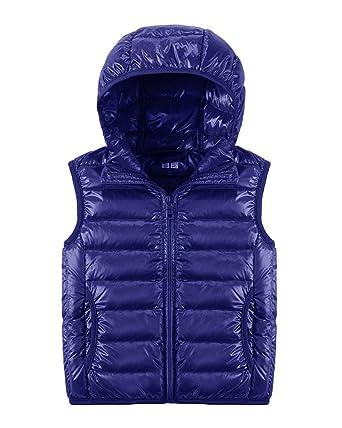Bambini Bambino Gilet Piumini Inverno Cappotto con Cappuccio Smanicato Giacche  Per Ragazze Ragazzi  Amazon.it  Abbigliamento a3515dddf42