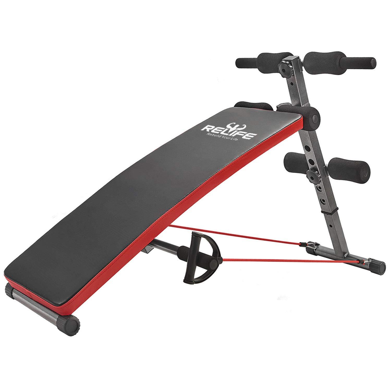 Relife再構築Your Life Sit Upベンチ、折りたたみ式調節可能ワークアウトフィットネス機器ホームジム  Back B07C4JQ27S