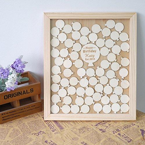 Cute Wedding Guest Book Ideas: Cute Wood Wedding Guest Book Alternative Balloon Drop Box