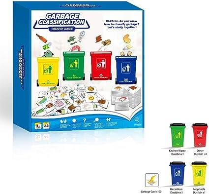 ZMH Juego de Mesa de clasificación de residuos de Gagbage niños ...