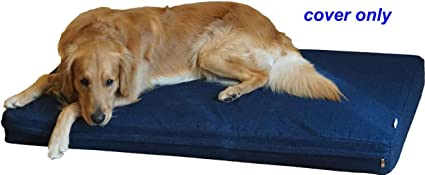 PETBED4LESS Pet bed dog bed replacement zipper cover from heavy duty Denim Jean