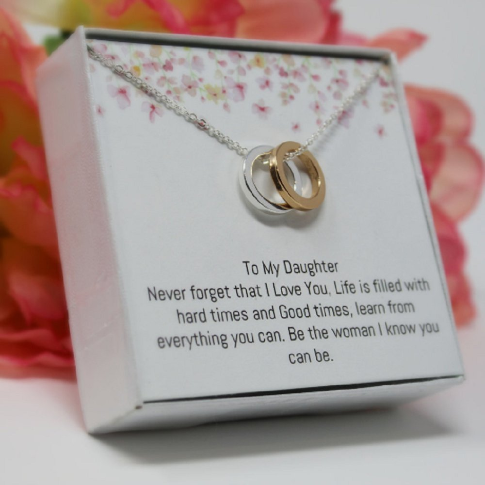 OnePurposeGifts to My Daughter Gifts Daughter Birthday Gifts Sweet 16 Gifts Graduation Gift Gifts for her (Gold/Silver) by OnePurposeGifts (Image #2)