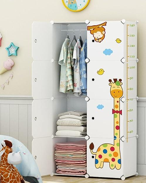 Kleiderschrank kinderzimmer  Koossy Erweiterbares Kinderregal Kinder Kleiderschrank mit Giraffe ...