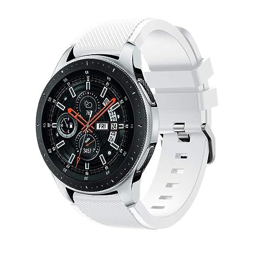 para Samsung Galaxy Watch de Pulsera de Correa de muñeca de Reloj de Acero Inoxidable Correa de Diamante de Acero de 46mm: Amazon.es: Relojes