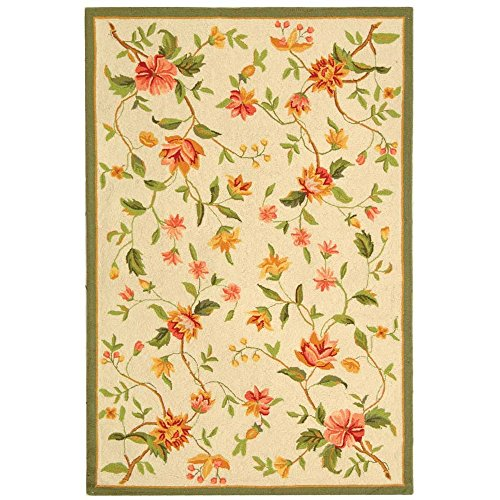Safavieh Chelsea Collection HK263A Hand-Hooked Ivory Premium Wool Area Rug (2'9
