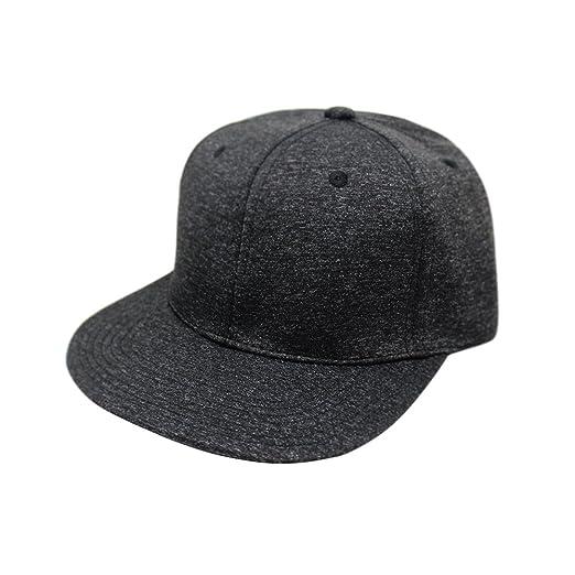 Flat Visor Melange Heather Snapback Hat  92f94cdf0065