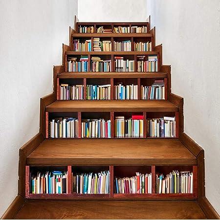 CDW Librería Escalera Pegatina Moda Idea Escalera Wall Sticker Home Decor Etiqueta (13 Piezas): Amazon.es: Hogar