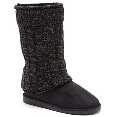 Eamonn Womens Fashion Faux Fur Knit Shaft Boots