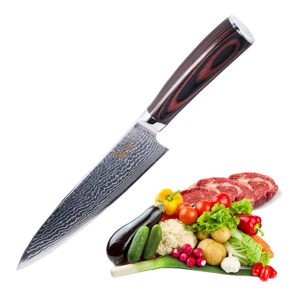 Amazon.com: Chefs Knife 8 inch-Japanese VG10 Super Steel 67 Layers ...
