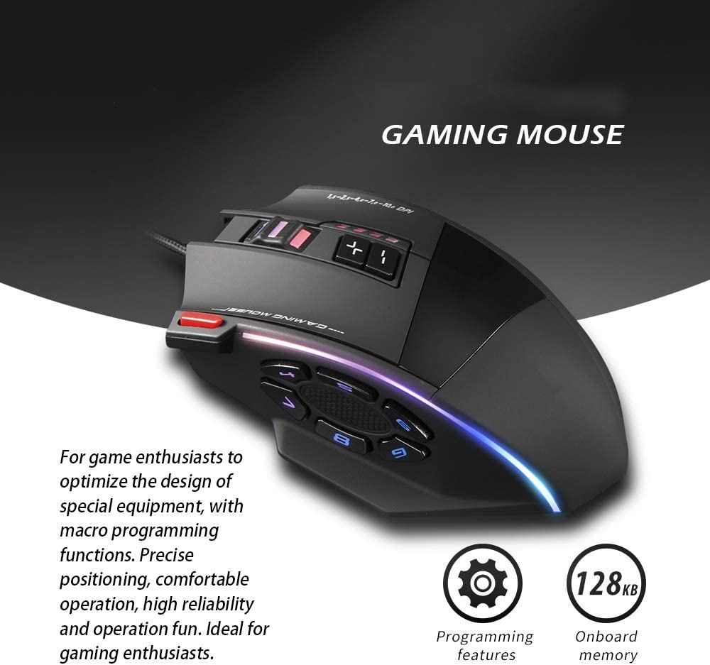 16400 DPI High Precision Laser Programmable Computer Gaming Mice C-13 USB Plug CHAOZHAOHENG Gaming Mouse for LOL PS4 IGNs Recommendation PUBG Mechanical Design