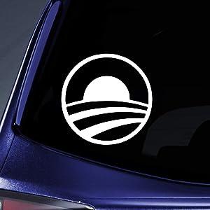 "Bargain Max Decals - Barack Obama President Hope Sticker Decal Notebook Car Laptop 5"" (White)"