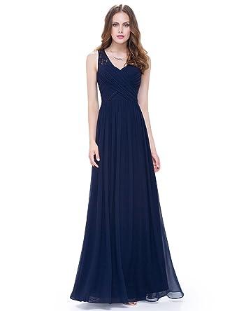 f25206989f Ever-Pretty Women's Sleeveless Ruched Bust Floor Length Evening Dress 08871