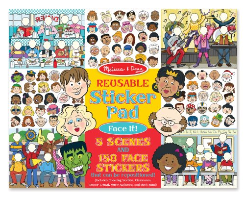 ble Sticker Pad: Face It! 150 Stickers and 5 Scenes (Busy Kids Sticker)