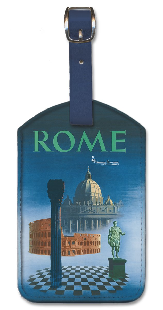 Pacifica Island Art Leatherette Luggage Baggage Tag Rome