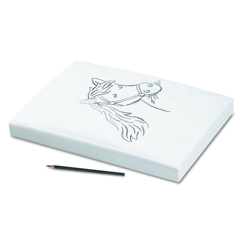 Pacon 96510 Tracing Paper, 25 lbs., 9 x 12, Semi-Transparent, 500 Sheets per Ream