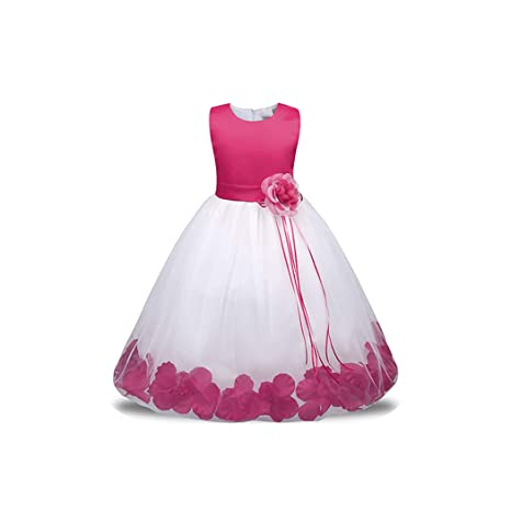 Amazon Com Flower Girl Dress With Flowers Ribbons For Girls