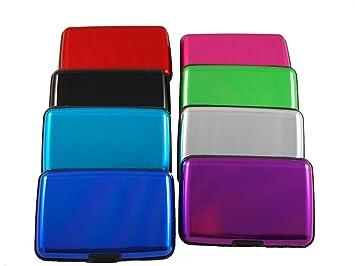 Lumanuby 1X Porte-Cartes Carte Bleue CB Visite Aluminium Rigide Secutity Credit Card Wallet Holder Argent Kl2bEBv