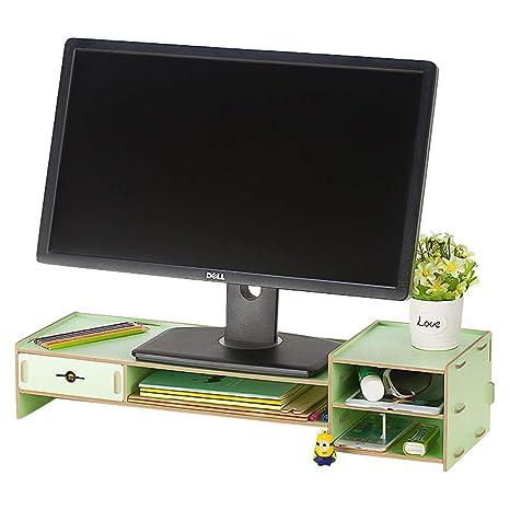 Amazon.com: Exttlliy - Soporte para monitor de madera ...