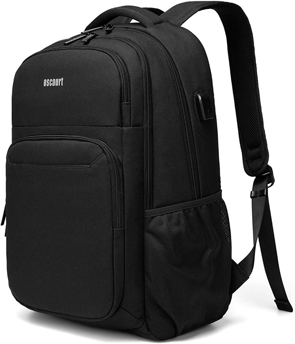 Travel Laptop Backpack, Business Slim Durable Laptops Bag Backpack with USB Charging Port Fits 15.6 Inch Laptop
