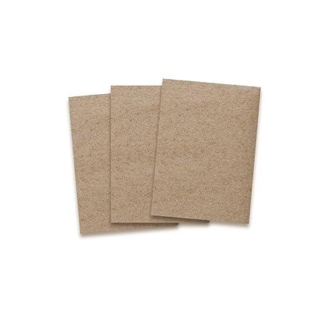 Kraftpapier-Karten in Braun | 50 Stück | bedruckbare Post-Karten in DIN A6 Format 10,5X 14,8 cm I 350g/m² I Exklusive Grußkar