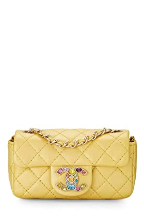 2077759c6b71 CHANEL Gold Quilted Lambskin Precious Jewel Half Flap Micro (Pre ...