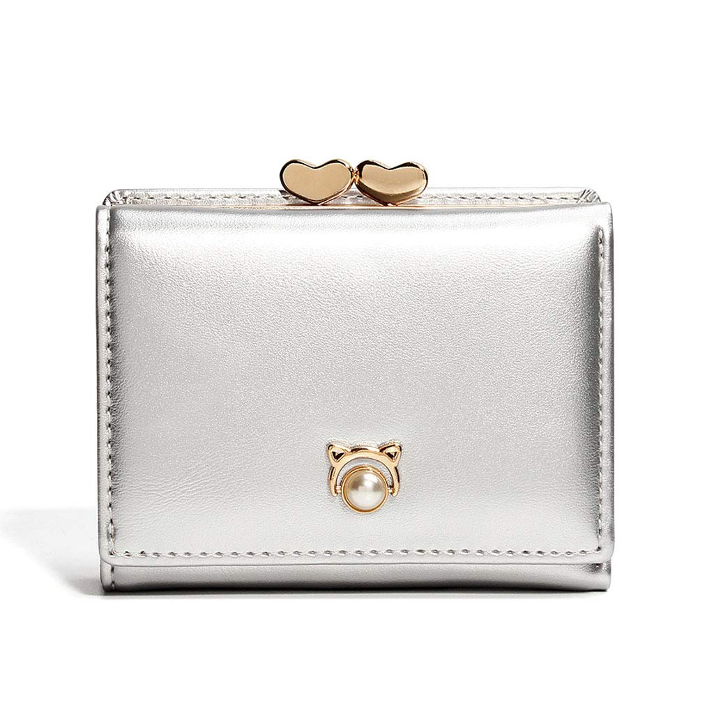 Women Trifold Short Wallet...
