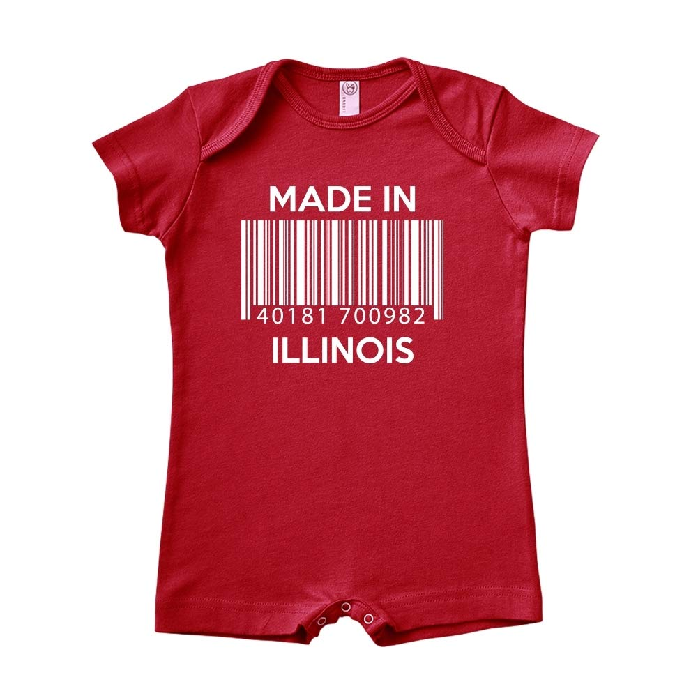 Baby Romper Barcode Made in Illinois