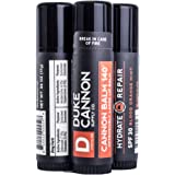 Duke Cannon Balm 140 Tactical Lip Protectant with SPF 30, 0.56 oz, 3 Pack