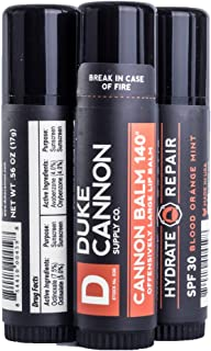 product image for Duke Cannon Supply Co. - Tactical Lip Protectant Balm, Blood Orange Mint (3 Pack of 0.56 oz) Superior Performance Lip Protection Balm for Hard Working Men - Blood Orange Mint