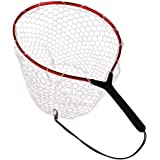 Fly Fishing Net with Aluminum Alloy Soft Rubber Mesh Trout Catch and Release Landing Net for Fly Fishing