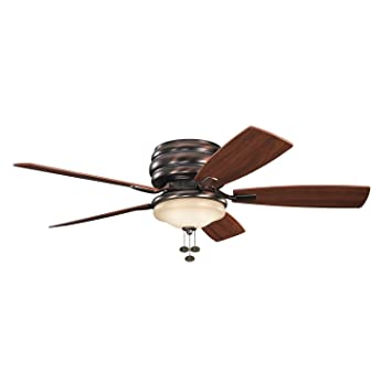 lighting flush mount ceiling fan oil brushed bronze finish fans without light kit 52 with and remote white lowes