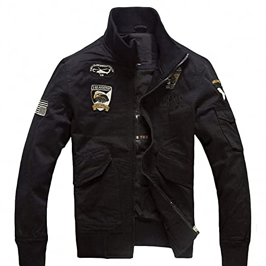 Amazon.com: Fire Kirin Bomber Jacket Men NEW Aeronautica Militare Men Air Force One Mens Jackets And Coats Army Military Pilot Jacket Q110: Clothing