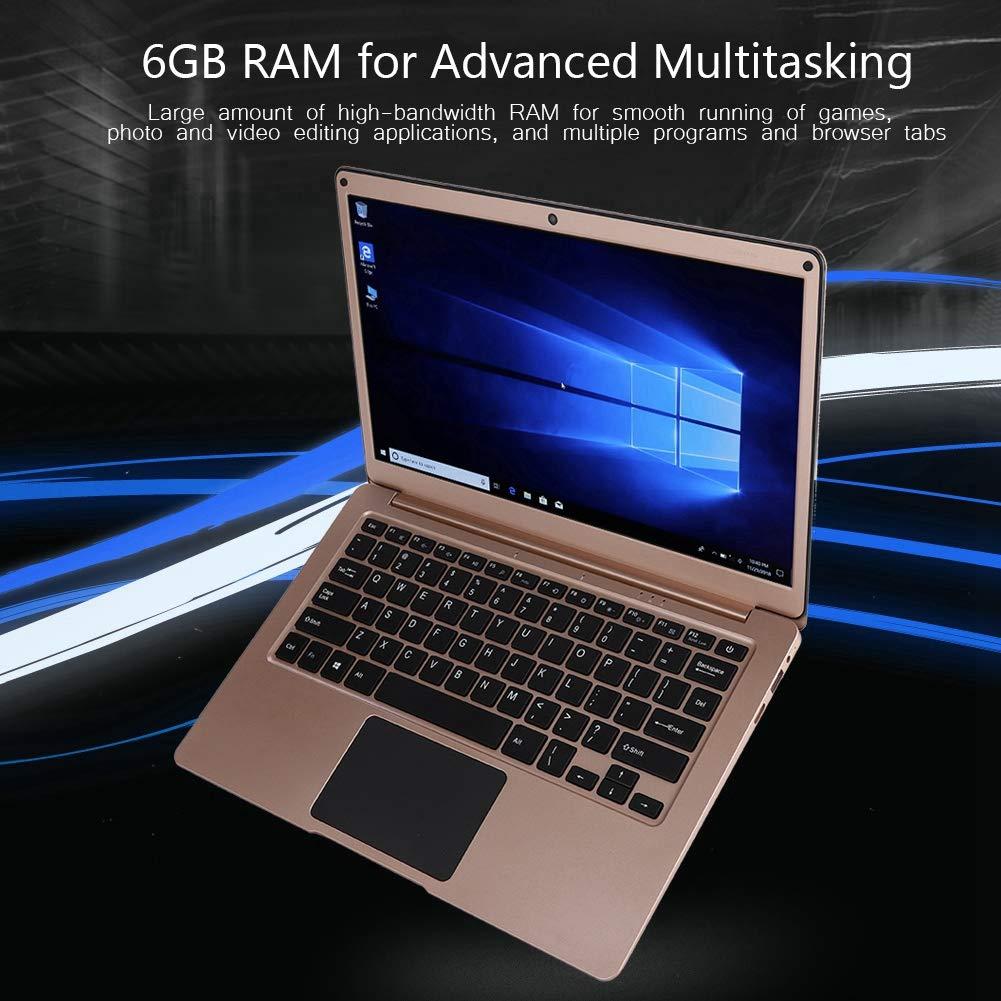 Eboxer 13.3 Pulgadas Laptop Full HD PC Portátil Netbook 6G RAM+ 256G SSD para Windows10 / Apollo Lake J3455 100-240V, Oro (Oro): Amazon.es: Electrónica