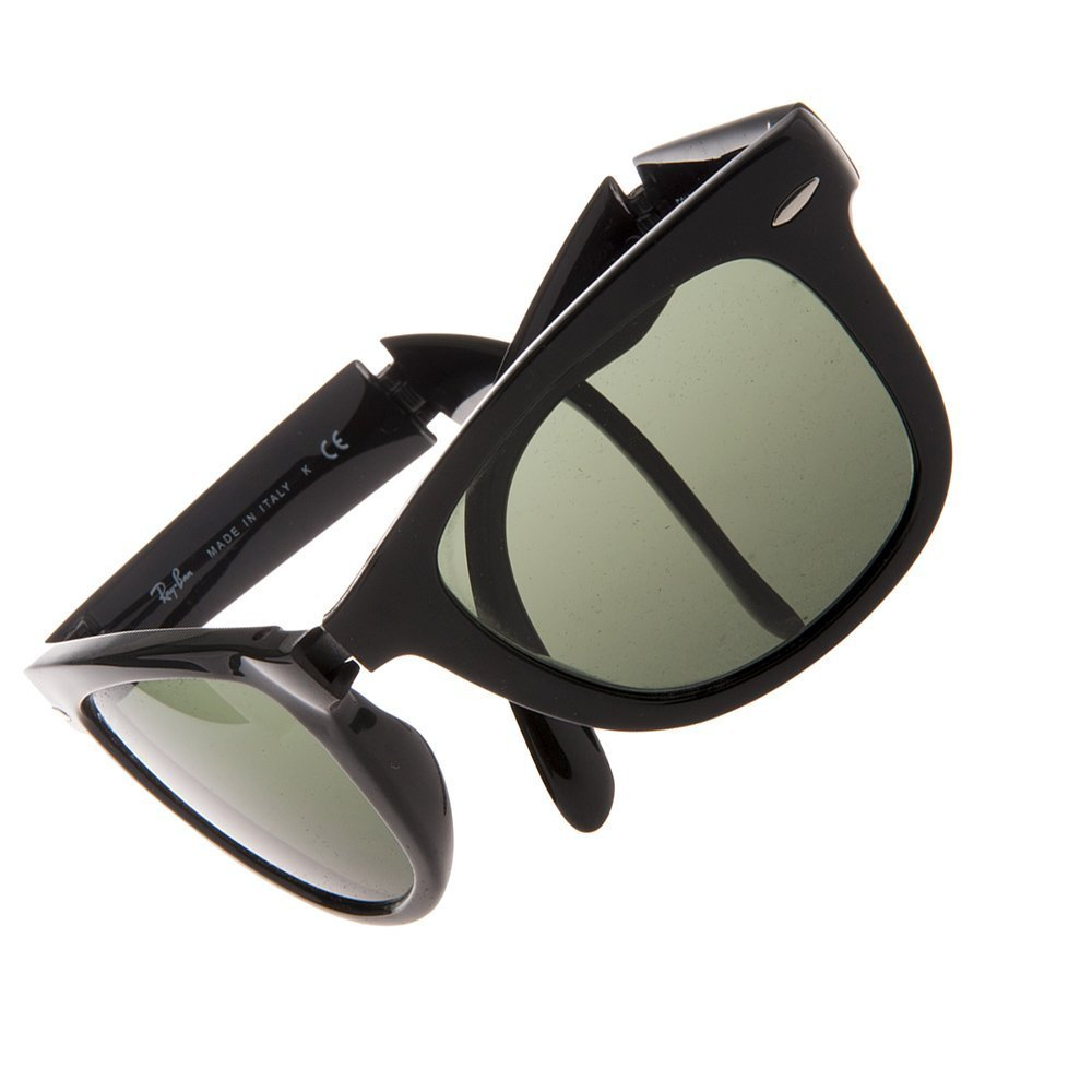 b0c8b5b2f ... real amazon ray ban mens folding wayfarer sunglasses black blue one  size clothing 3bdf9 96db3 ...