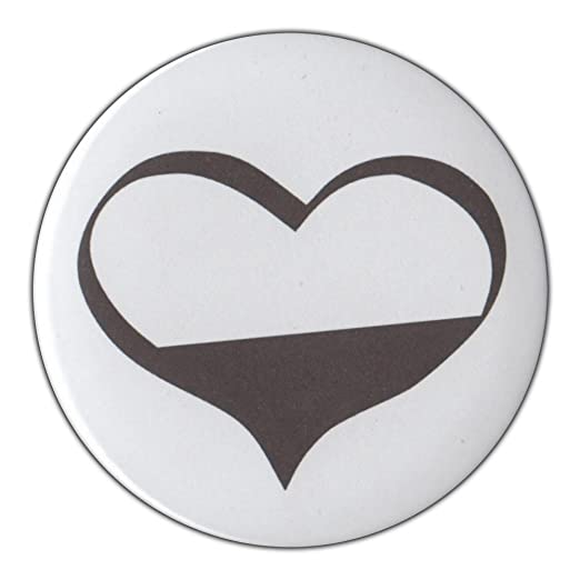Amazon 3 Pin Back Button Demisexual Heart Symbol Sexual