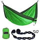 OKWINT Camping Hammock Garden Hammock Ultralight Nylon Portable Hammock, Heavy-duty 500lbs Parachute Hammock for Backpacking, Camping, Travel