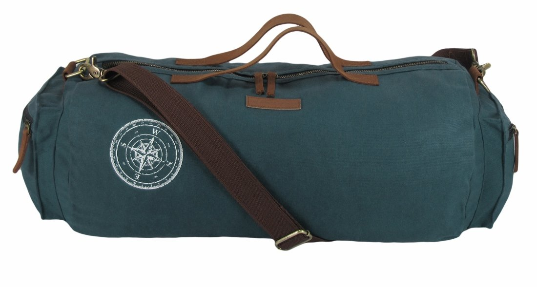 The House Of Tara Waxed Canvas Duffle Gym Bag Combat Blue Amazonin Bags Wallets Luggage