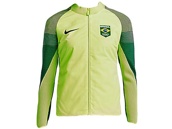 7627d0b68 Women s Nike Sportswear Team Brasil Dynamic Reveal Jacket Volt 826614-709  ...