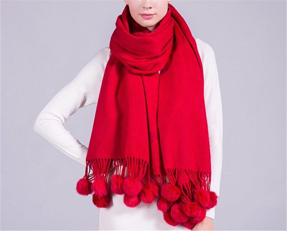 DIDIDD Bufanda-bufanda de lana de alta calidad damas otoño invierno engrosamiento chal cálido,A