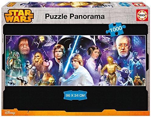 Puzzles Educa – Puzzle con diseño Star Wars Panorama, 1000 piezas (16299)