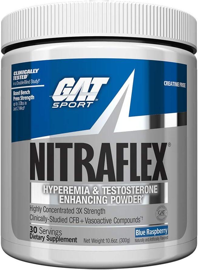 Nitraflex Pré Treino Importado 30 doses - GAT - Blue Raspberry por GAT