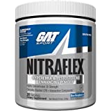 GAT Clinically Tested Nitraflex Testosterone Enhancing Pre Workout, Blue Raspberry, 300 Gram