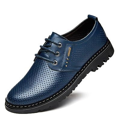 e383f6566d2096 Herrenschuhe im Sommer und Herbst Business casual Schuhe Herren  Freizeitschuhe Leder Atmungsaktive Schuhe für Herren von England  männliche  Loch Schuhe  ...
