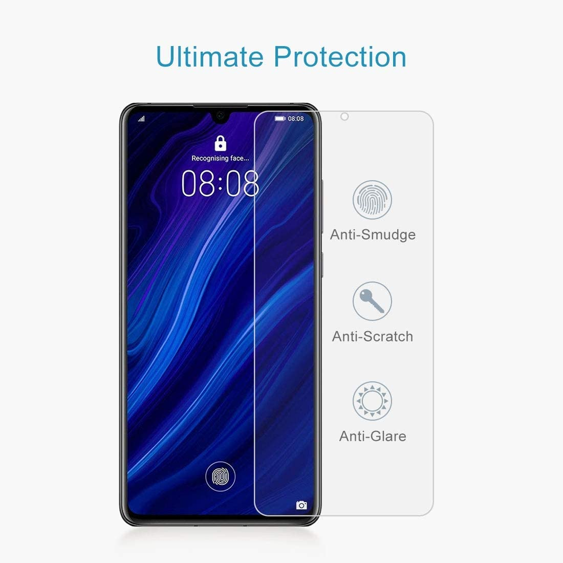 ZHANGYUNSHENG 100 PCS 0.26mm 9H 2.5D Tempered Glass Film for Huawei P30 zys