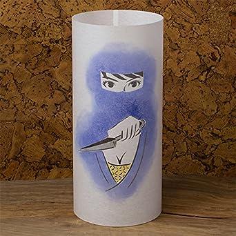 Kunoichi - Japanese Lamp Handmade - Japanese Women Ninja ...