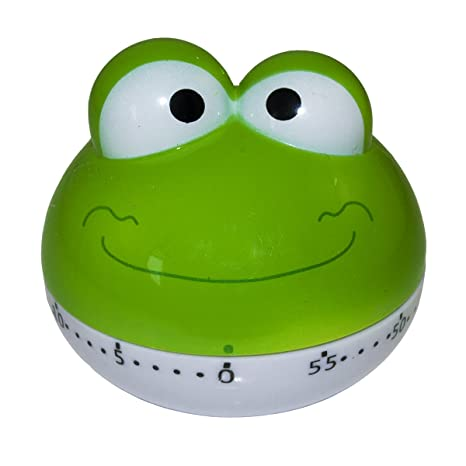 Bingone Assorted Colors Cute Kitchen Timer Mini 55 Mins Animal Timer Countdown Frog Green