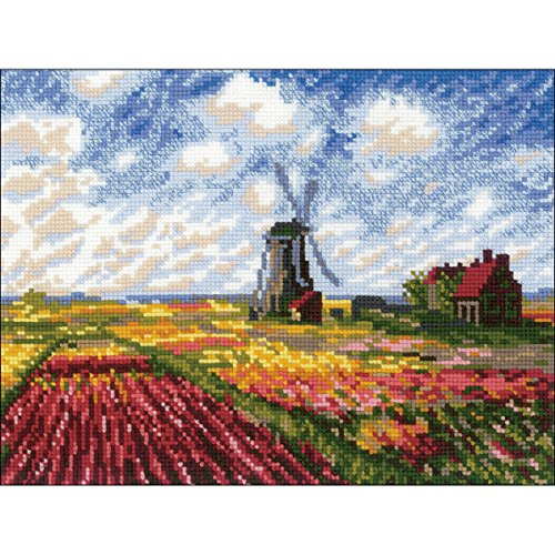RIOLIS 1643 - Tulip Fields After C. Monet's Painting - Counted Cross StiWtch Kit 13